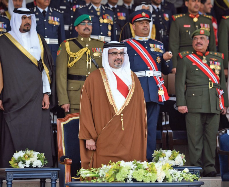 Crown Prince, Deputy Supreme Commander and First Deputy Prime  Minister HRH Prince Salman bin Hamad Al  Khalifa patronised the graduation ceremony of Royal Academy of Police's nineth batch of cadets on December 28, 2016. The Crown Prince was welcomed by the Minister of Interior Lt  General Shaikh  Rashid bin Abdulla Al Khalifa and other senior MOI officers.