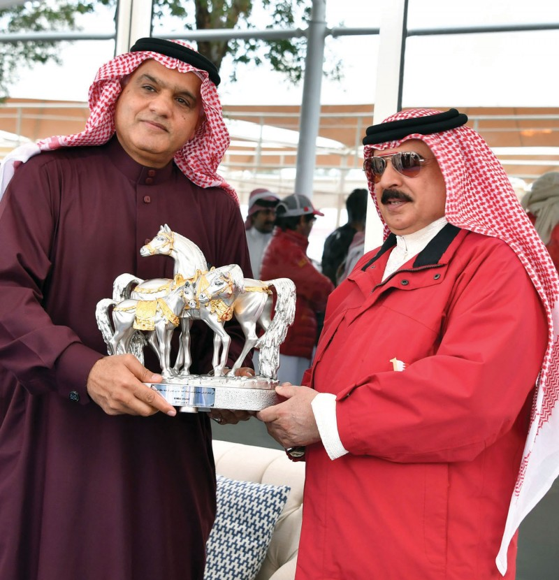 HM King Hamad bin Isa Al Khalifa attended the 120-km junior and senior endurance race of HM the King's Cup as well as the local and international qualifying 80-km and 40-km race organised by Bahrain Royal Equestrian and Endurance Federation at Bahrain International Endurance Village on March 4, 2017.