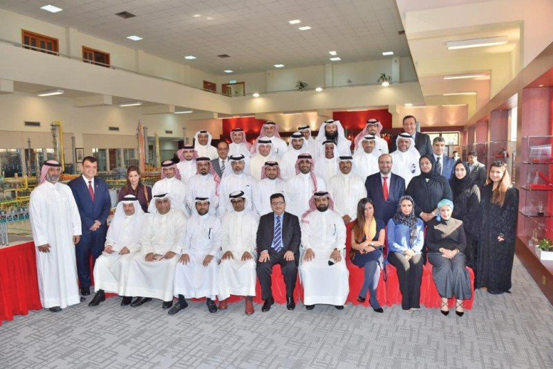 Gulf Petrochemical Industries Company Human Resources Manager Yousef Fakhro received a delegation of participants at a gathering of government leaders organised by the Bahrain Institute of Public Administration. The visitors were briefed on the Company's business activities and its various programmes.