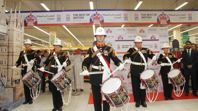 British Festival kicked off at LuLu Hypermarket, Hidd. In celebration of 200 years of Bahrain-UK relations. British Ambassador Simon Martin inaugurated the festival in the presence of LuLu management representatives.