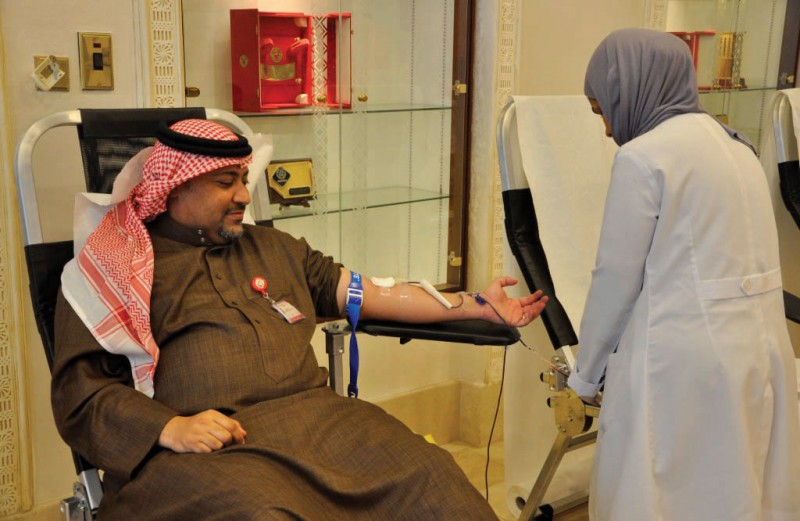 The Ministry of Housing held a blood donation campaign for all its members in cooperation with King Hamad University Hospital as part of the celebrations of the National Action Charter day.