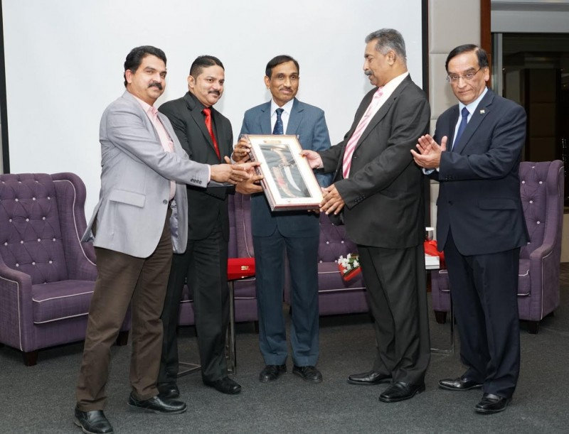 Indian Community Relief Fund (ICRF) organised a farewell for Indian Embassy Deputy Chief of Mission Ram Singh who is leaving Bahrain. Indian Ambassador Alok Kumar Sinha and ICRF chairman Bhagwan Asarpota presented a memento to Ram Singh. The event was held at The Diplomat Radisson Blu Hotel, Residence & Spa.