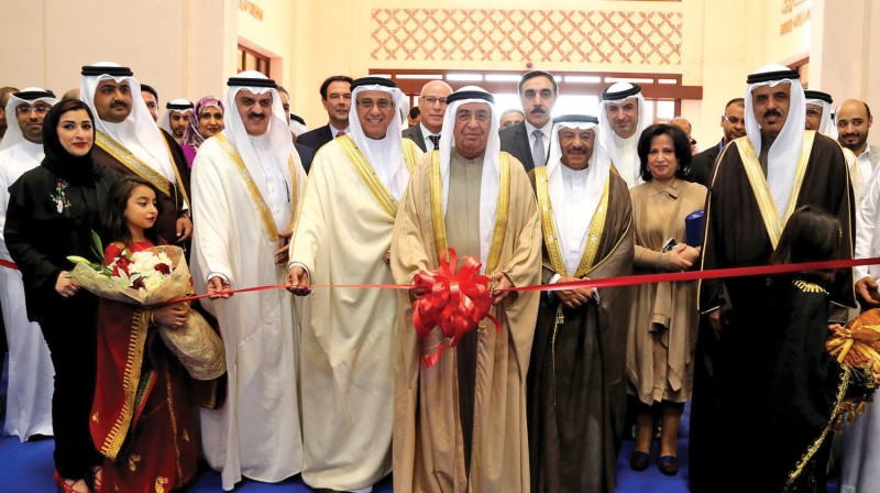 Deputy Prime Minister Shaikh Mohammed bin Mubarak Al Khalifa inaugurated the 23rd edition of Al-Ayam Cultural Festival organised by Al-Ayam Publishing institution at Bahrain International Exhibition and Convention Centre on December 29, 2016. Representatives Council Speaker Ibrahim Al Mulla, Shura Council Chairman Ali bin Saleh Al Saleh, Ministers were present.