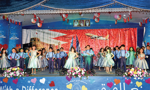 Al noor international school celebrates annual day dt for Annual day stage decoration images
