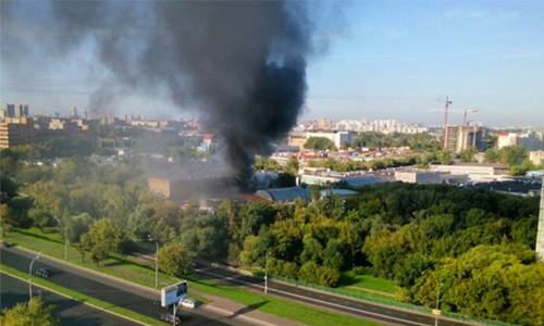 At least 16 dead in Moscow warehouse fire