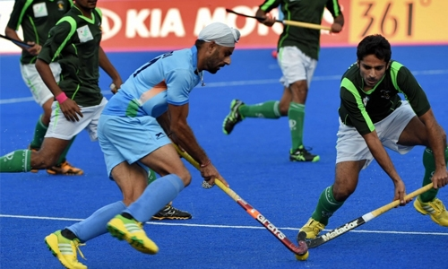 Never mind the cricket! India beat Pakistan ...in field hockey