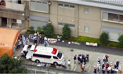 Ex-employee kills 19 in disabled home knife attack
