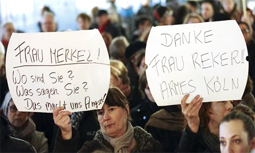 'We want our safety back', say hundreds of women at Cologne protest