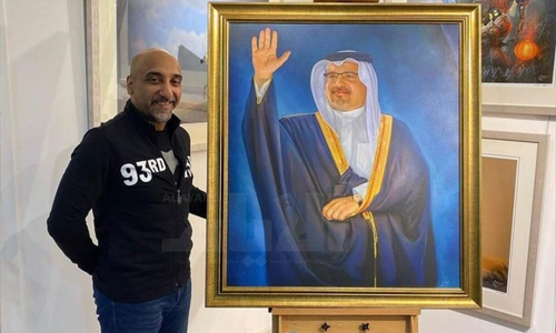A special painting for HRH the Crown Prince and Prime Minister