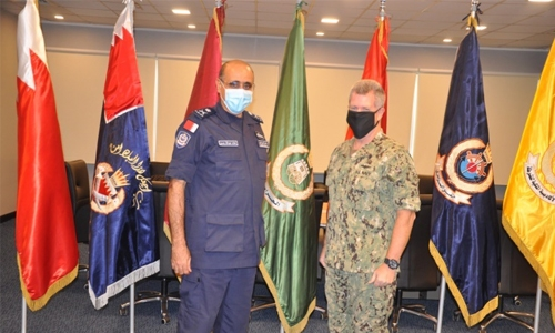 Coast Guard Commander receives US 5th Fleet Commander