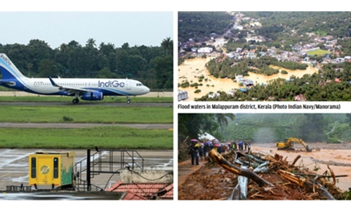 Rain eases, airport reopens, rescue begins