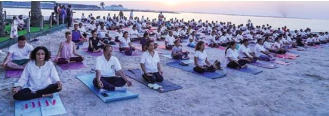 Yoga event held ahead of World Yoga Day