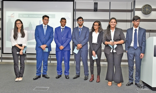 TradeQuest students present financial performance at Bourse