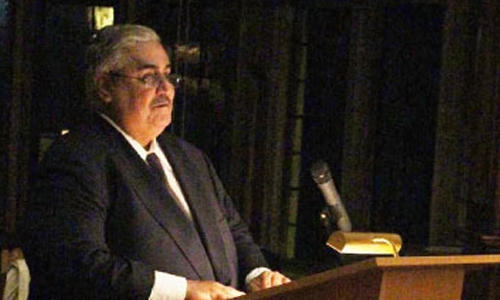 Bahrain FM attends memorial  service for Sir Elihu