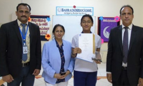 BIS student excel in global exam