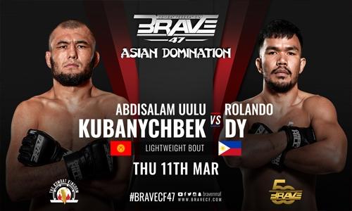 Kubanychbek vs Rolando Dy to headline BRAVE CF 47