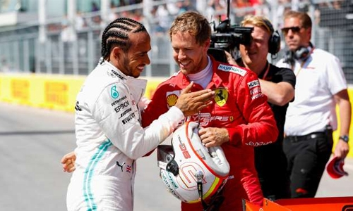 Vettel grabs dramatic pole ahead of Hamilton