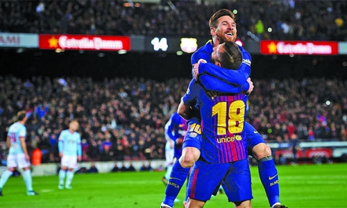 Messi scores brace as Barca cruise