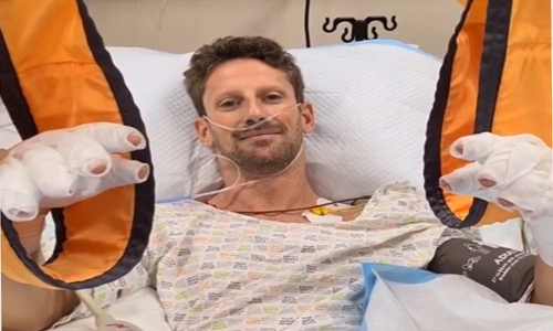 High-spirited Grosjean recovering in BDF Hospital amid special care, deluge of good wishes