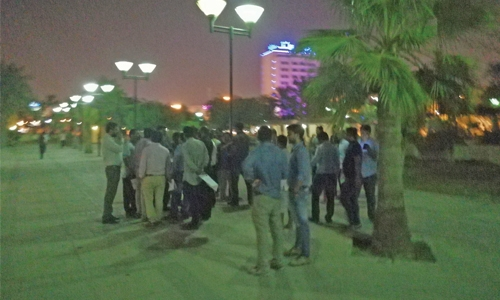 Construction company workers protest over salary dues