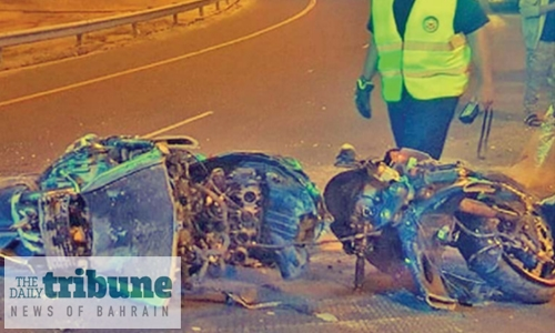 Narrow escape for Bahraini youngster in road accident