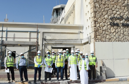 Private aviation terminal works on schedule