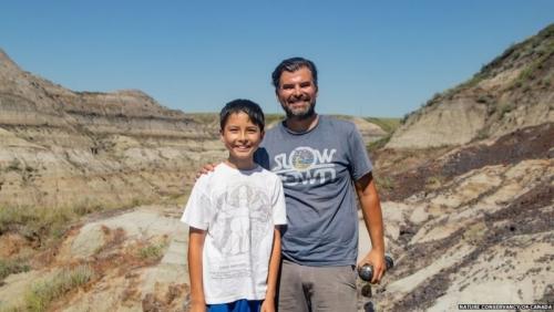 12 year old boy discovers rare dinosaur skeleton