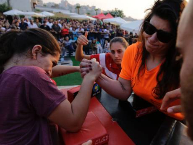 Lebanese arm wrestlers revive century-old sport