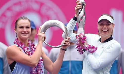 Sharapova wins first title since drug ban
