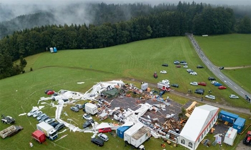 Two dead in Austria as storm wrecks marquee