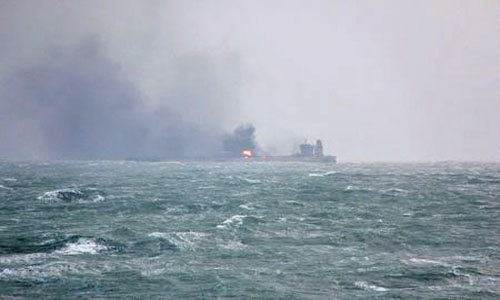 Dozens missing after collision in East China Sea