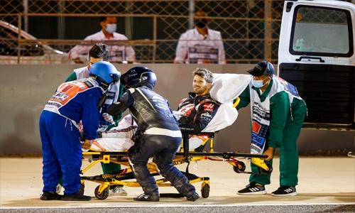Haas hopeful of speedy Grosjean recovery