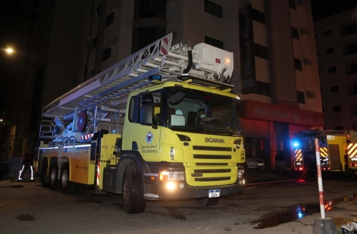 Building evacuated after fire in Al Hoora
