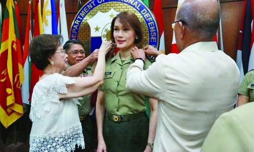 First transgender officer joins Philippine army reserves