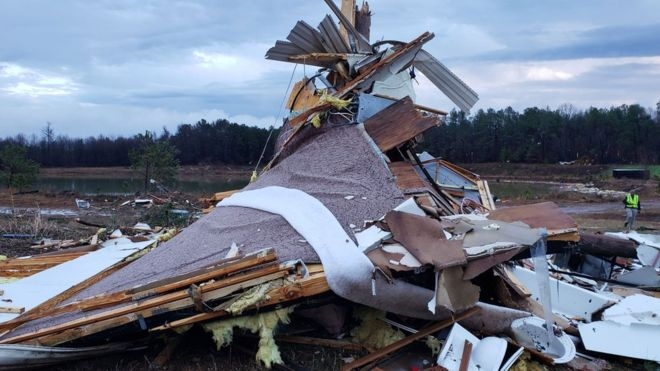 US storms: At least 11 killed as severe weather hits south