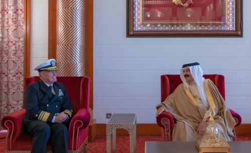 HM the King receives new US Fifth Fleet commander
