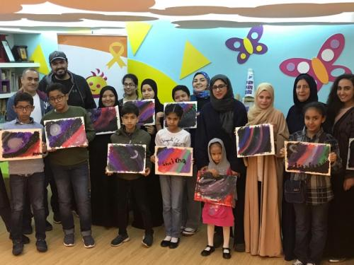 'Smile' organises acrylic painting workshop for cancer-stricken kids