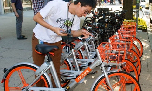 Dockless bike-share hits US capital, following craze in China