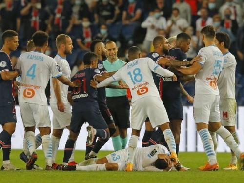Neymar alleges racial abuse as 5 players see red card after brawl in PSG's 1-0 defeat against Marseille