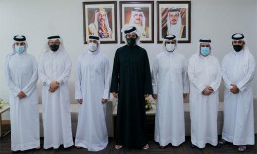 Shaikh Khalid bin Hamad visits Riffa Club, Bahrain Golf Club