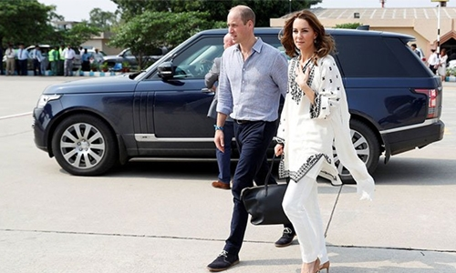 Prince William, Kate land in Islamabad after aborted flight