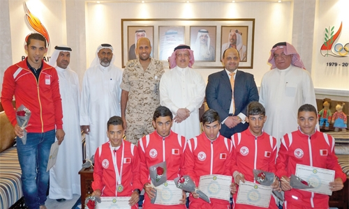 Warm welcome for Bahrain cycling team