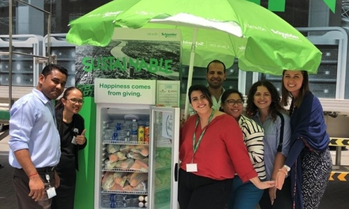 The spirit of Ramadan extends to sharing fridges