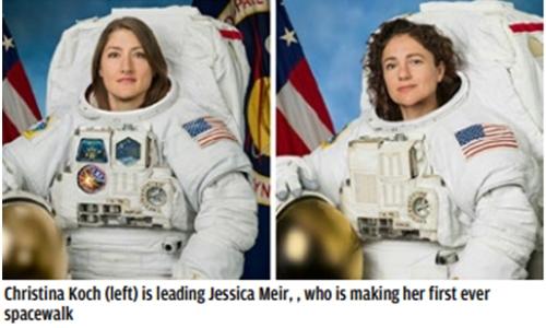 Historic first all-female spacewalk