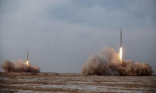 Iran fires long-range missiles