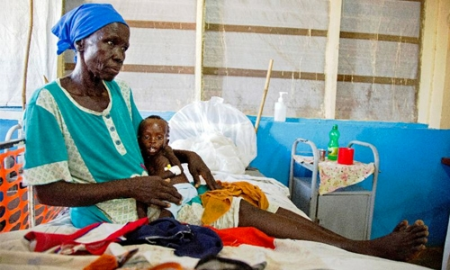 1.4 million children face  famine in four countries