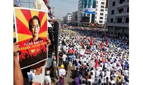 Myanmar coup: Strike grips country as protesters defy junta's lethal warning
