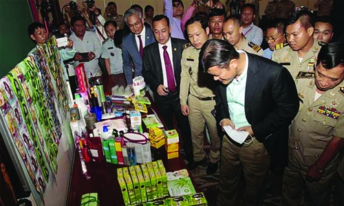 Cambodia seizes 68 tonnes of fake cosmetic products
