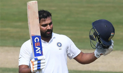 Rohit hits ton as India dominate day one