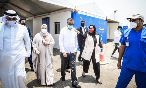 WHO chief visits Bahrain hospitals and vaccination centres